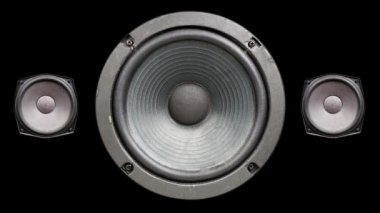 A speaker cone pumping to the sound of the bass — Stock Video