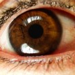 Close-up of eye looking around — Wideo stockowe #18854289