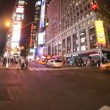 Times square at night, new york — Stock Video