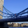 Royalty-Free Stock Vector Image: Timelapse shot of tower bridge in london