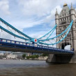 Timelapse shot of tower bridge in london - Stock Photo