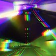 Timelpase of driving through a tunnel with lights — Stock Video