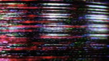 Static and electronic noise captured from an old television — Stock Video