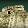 Timelapse of the mayan ruins at uxmal - Stock Photo