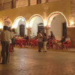 Live band plays outdoors in the town of Valladolid - Zdjęcie stockowe