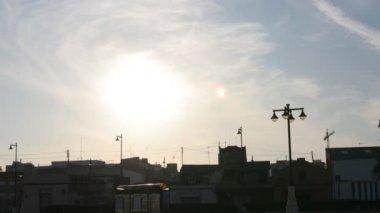 Západ slunce v valencii, španělsko — Stockvideo