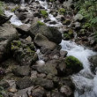 Soft slowing water in a waterfall in the rila mountians — Stok video