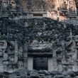 Time-lapse of the mayan ruins at xpujil, mexico - Stock Photo