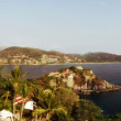 Timelapse view of the coastline in zihuatanejo - 