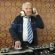 Grandpa dj - Stock Photo
