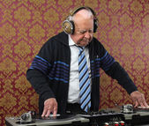 Grandpa dj — Stock Photo