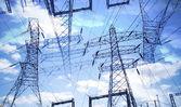 Postes de electricidade — Foto Stock