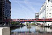 Docklands bridge — Stock Photo