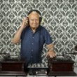 Stock Photo: grandpa dj