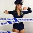 Sexy police woman — Stock Photo #40644237