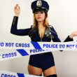 Sexy police woman — Stock Photo #40645355
