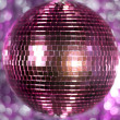 Stock Photo: Pink discoball