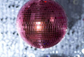 Pink discoball — Stock Photo