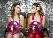 Beautful disco twins — Stock Photo