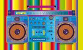 Vintage ghettoblaster cassette tape — Stok Vektör