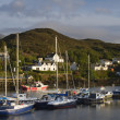 Fishing boats in kyleakin harbour, isle of skye — Stock Photo #48113999