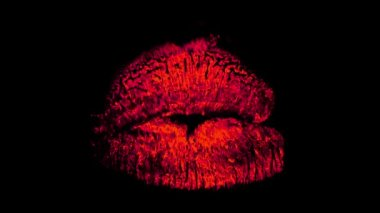 Red lipstick marks — Stock Video