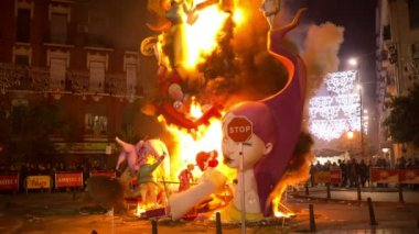 Fallas festival valencia carnival spain — Stock Video