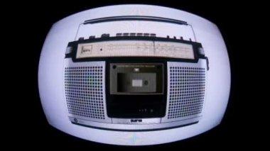 Retro stereo recorders — Stock Video