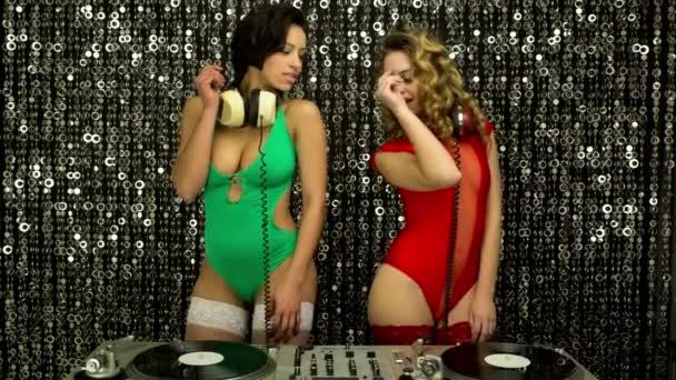 Musique de femmes sexy dj disco party — Vidéo