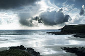Polzeath beach in cornwall england — Stock Photo
