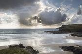 Polzeath beach in cornwall england — Stock Photo