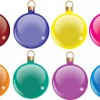 Festive baubles — Stock Vector