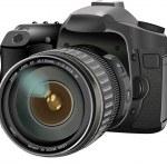 SLR camera — Stock Vector