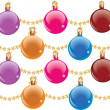 Stock Vector: Decorative baubles
