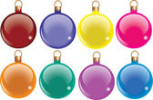 Coloured baubles — Stock Vector