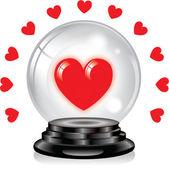 Love you Crystal ball — Stock Vector