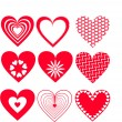 Stock Vector: Graphic hearts