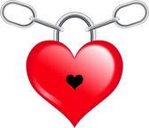 Heart with chain — Stock vektor