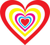 Heart rainbow — Stock Vector