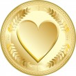 Love coin — Stockvektor #16545977
