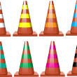 Stock Vector: Traffic cones