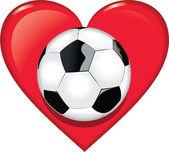 Cuore di calcio — Vettoriale Stock