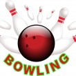 Bowling strike — Vector de stock #18639945