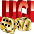 Stock Vector: Luck dice