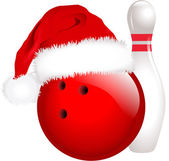 Christmas bowling — Stock Vector