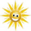Stock Vector: Funny sun