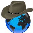 World stetson — Stock Vector