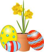 Velikonoční narcisy — Stock vektor