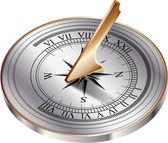 Reloj de sol — Vector de stock