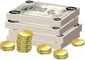 Geld und finanzen — Stockvektor